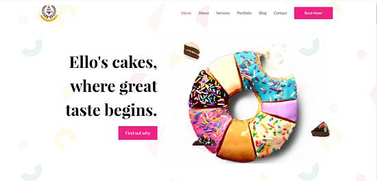 Ecommerce Website Design Lagos Web Agency Lagos Designers Abuja Nigeria ELLOS CAKES